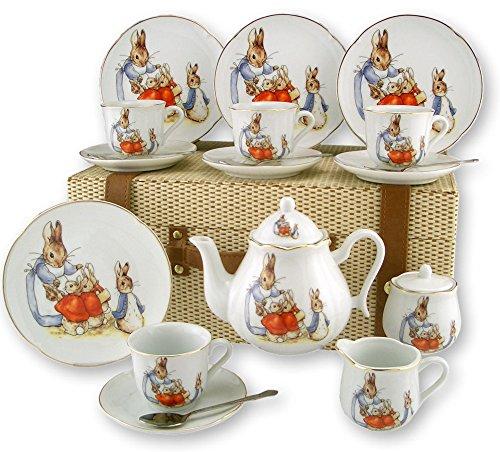 Beatrix Potter Peter Rabbit Large Tea Set by Reutter Porcelain 60.588