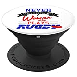 Rugby Woman Never Underestimate Player Sports Gift - PopSockets Grip and Stand for Phones and Tablets