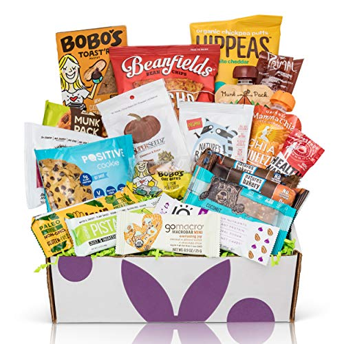 - Healthy Vegan Snacks Care Package: Mix of Vegan Cookies, Protein Bars, Chips, Vegan Jerky, Fruit & Nut Snacks, Vegan Gift Box