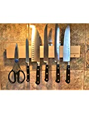 MADE IN CANADA, NO DRILLING IN CERAMIC TILE AND NO RISK OF CRACKING TILE, Industrial Strength Adhesive Velcro, KNIFEMATE MAGNETIC KNIFE HOLDER, MAGNETIC KNIFE STRIP, MAGNETIC KNIFE BAR, KNIFE MAGNET,15 INCHES x 2 3/8 INCHES x 3/4 INCHES, KITCHEN KNIFE HOLDER, MAGNETIC BAR, POWERFUL MAGNETS, SOLID CANADIAN MAPLE, EASY INSTALLATION