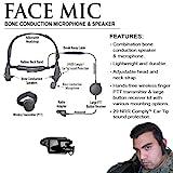 FACE MIC Bone Conduction Headset for Harris / Macom Jaguar Radios (See List)