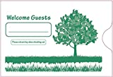 Keycard Envelope / Sleeve '' Welcome Guests'' 2-3/8'' x 3-1/2'' 500CT (Green,)
