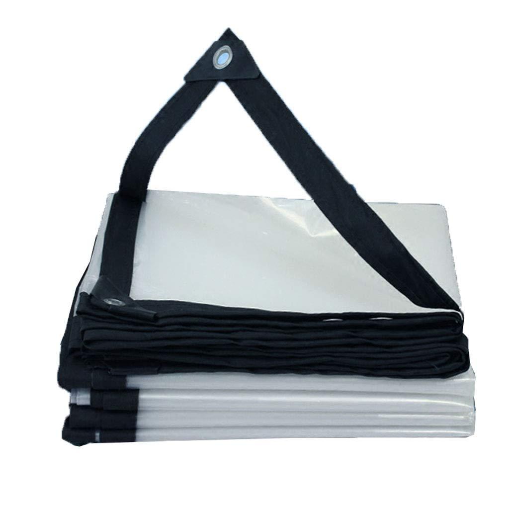 3X3m HCYTPL Transparent Tarpaulin imperméable Heavy Duty Insulation imperméable and Dustproof Durable de plein air Polyethylène, Tailles   1X2m,4X5m