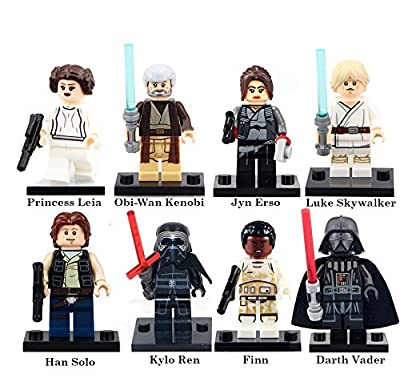 Star War Inspired Past and Present Block Set by Generic | Darth Vader, Leia Organa, Finn (8 pc)