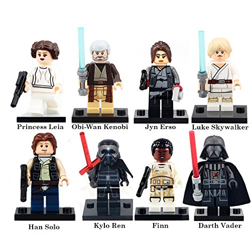 Original Star Wars Characters (Star Wars Past and Present Block Set by Generic | Darth Vader, Leia Organa, Finn (8 pc))