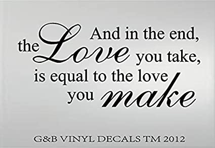 Amazon THE BEATLES ABBEY ROAD LOVE VINYL WALL DECAL WALL Beauteous Beatles Quotes Love