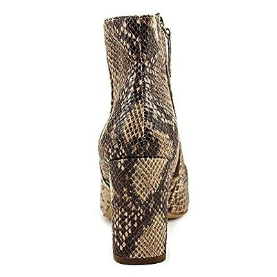 INC International Concepts Womens Taytee Block-Heel Boot Snake Tan 5M   Ankle & Bootie