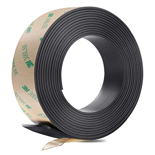 Gimars Anisotropic Strong Magnet Magnetic Strip Tape with Prime Sticky Adhesive - Ideal 1 Inch x 10 Feet Magnetic Roll for Craft and DIY ()