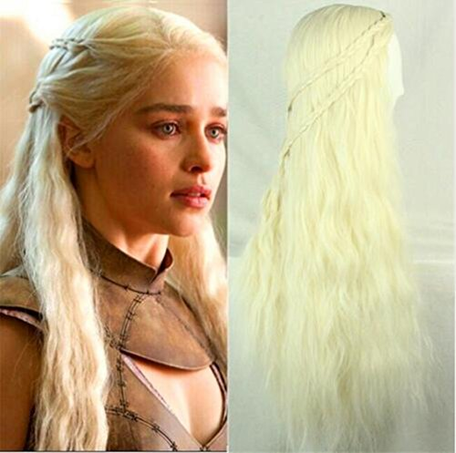 Arrival Game Of Thrones Daenerys Lnspired Cosplay Wigs Creamy-white Wig