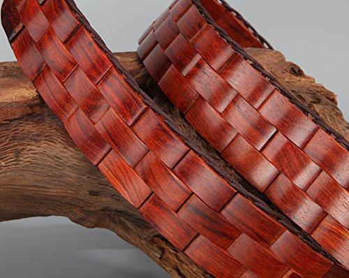 Menschwear Mens & Womens Adjustable Palisander Wooden Belt Handmade 120CM by Menschwear (Image #4)