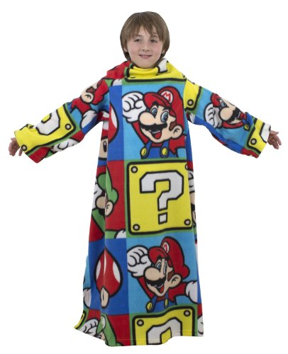 Super Mario Sleeved Fleece Character Rotary 100% Polyester