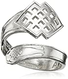 Alex and Ani Spoon Endless Knot Stackable Ring, Size 7-9