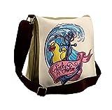 Lunarable Anchor Messenger Bag, Rubber Duck Sink or Swim, Unisex Cross-body