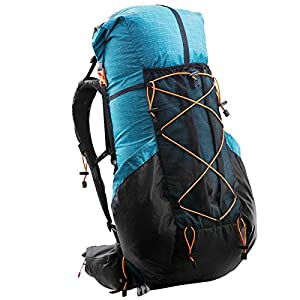 3F Gear 3F 56L(40+16) Hiking Backpack Outdoor Sport Daypack for Climbing Mountaineering Camping Fishing Travel Cycling Skiing (Blue)