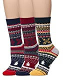 Leotruny 3-Pack Women's Vintage Knit Crew Cotton Boot Socks (3pairs-multicolor)