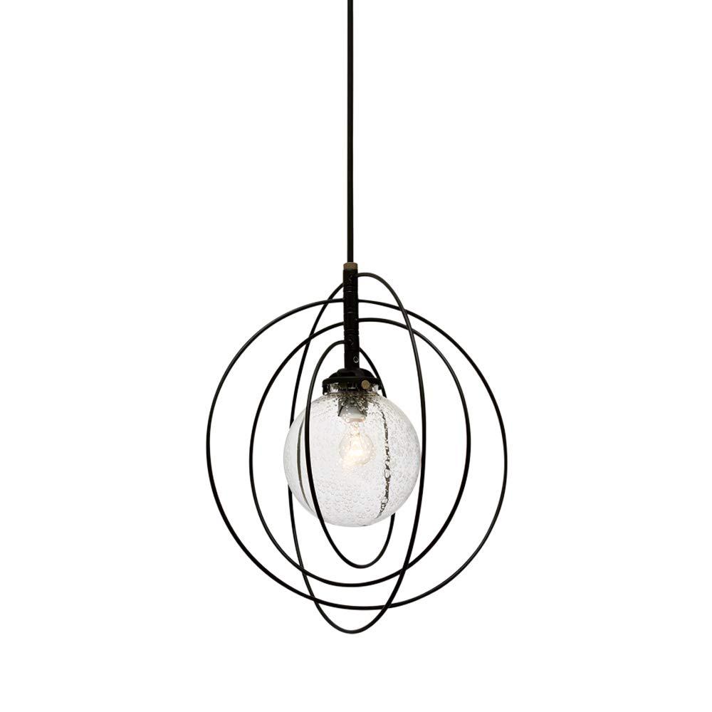Silkeborg - シルケボー - 気泡ガラス電球別売 LT-3374BU B07PJJFFCF ブラック/気泡ガラス