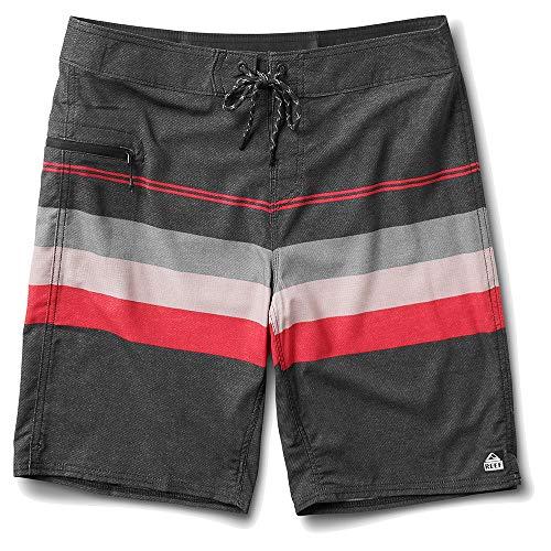 Reef Men's Peeler Boardshort 20' Perforated 4-Way Stretch, Black, 36