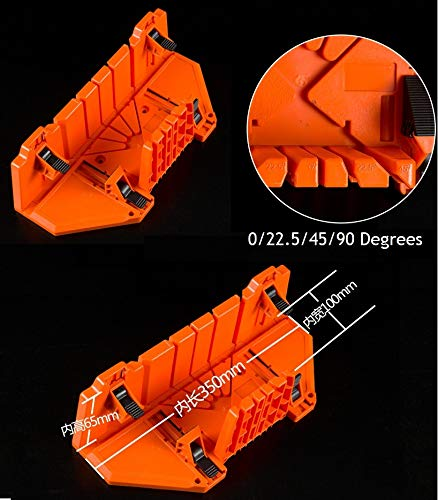 """Blue-Ocean-11-14"""" Plastic Angle Saw Storage Mitre Box Clamp For Back Saw guide"""