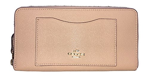 Coach Crossgrain Leather Accordion Zip Wallet, Nude Pink by Coach