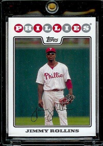 2008 Topps Baseball Cards # 30 Jimmy Rollins - Philadelphia Phillies - MLB Baseball Trading Card