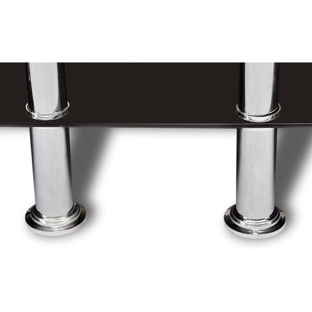 meuble de bar verre tremp noir x x cm amazonfr cuisine u. Black Bedroom Furniture Sets. Home Design Ideas