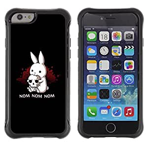 SHIMIN CAO@ Nom Nom Evil Bunny Rugged Hybrid Armor Slim Protection Case Cover Shell For iPhone 6 Plus CASE Cover ,iphone 6 5.5 case,iPhone 6 Plus cover ,Cases for iPhone 6 Plus 5.5