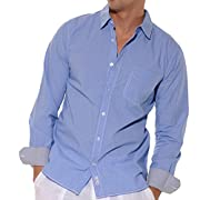 Trimmed Long sleeve cotton blend shirt.