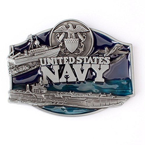 (Vintage Belt Buckle in United States Navy (NVY-01))