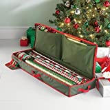 Holiday Gift Wrap Under Bed Wrapping Paper Storage with 2 inner pockets