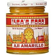 Inca's Food Aji Amarillo Paste - Hot Yellow Pepper Paste, 7.5 Oz Jar - Product of Peru