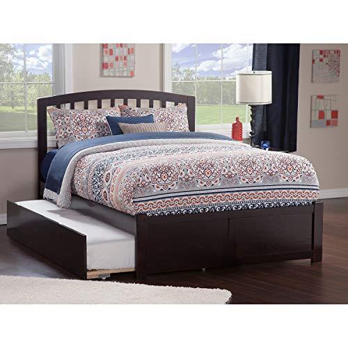 - Atlantic Furniture Atlantic Kids' Richmond Espresso Full Flat Panel Footboard Platform Bed with Urban Trundle