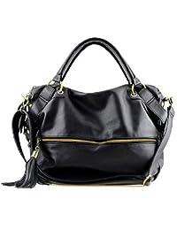 THG Black Fashion Lady Women Girl Casual Clutch Tote Shoulder Purse Hobo Bag Messenger Handbags