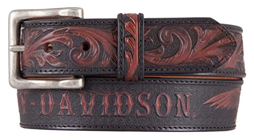 Harley-Davidson Men's Freedom Eagle Genuine Leather Belt, Brown HDMBT11447 (40) ()