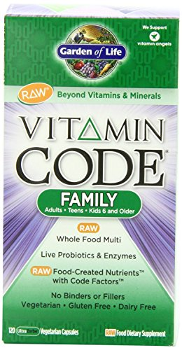 Garden of Life Vitamin Code Raw Family Multivitamin, 240 Capsules