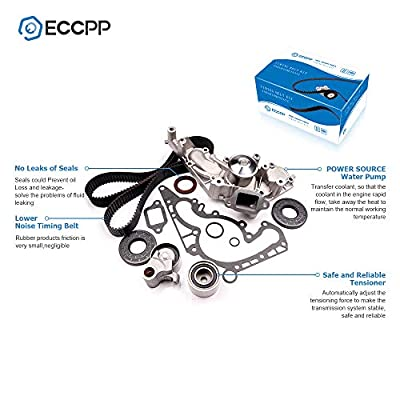 Timing Belt Kit with Water Pump, ECCPP TBK298WPT for 1998-2007 Lexus Toyota Tundra 4Runner Sequoia 4.7L 2UZFE: Automotive