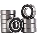 XiKe 10 Pack 6002-2RS Bearings 15x32x9mm, Stable Performance and Cost-Effective, Double Seal and Pre-Lubricated, Deep Groove Ball Bearings.