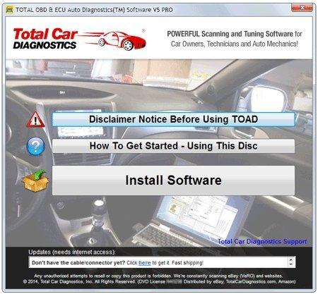 total obd ecu auto diagnostics software toad elm327 obd2 scanner chiptuning buy. Black Bedroom Furniture Sets. Home Design Ideas