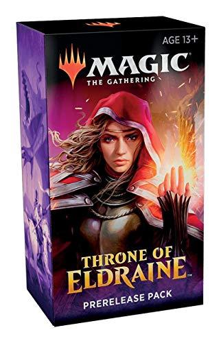 [해외]Magic The Gathering: Eldraine 프리릴리즈 왕좌 팩 (사전 출시 프로모 + 6 부스터 + d20 스핀다운 카운터) 키트 / Magic The Gathering: Throne of Eldraine Prerelease Pack (Pre-Pelease Promo + 6 Boosters + d20 Spindown Counter) Kit