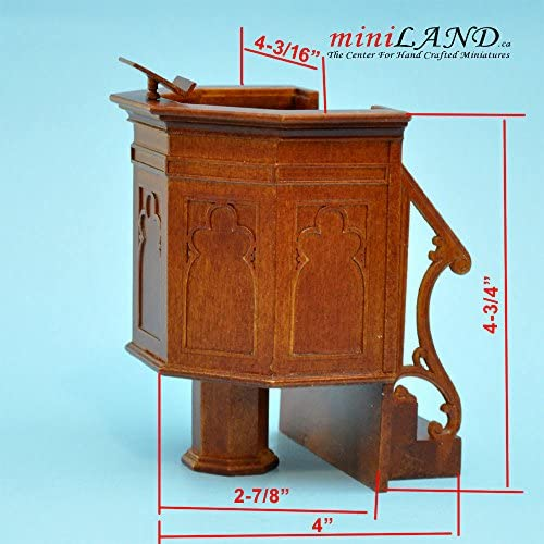 Rows of 6 Dollhouse Miniature Church Pew Scale 1:12