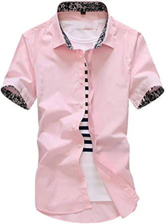 NSSY Camisa de Hombre Manga Corta de Verano Floral para Hombre Camisas de Vestir más el tamaño Slim Fit Camisa de los Hombres, XXXL: Amazon.es: Hogar