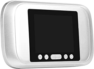 Fdit Visor Porta di Spioncino LCD 3.2Pollici 32GB fotocamera registratore porta di campanello HD 720P visione notturna di 160gradi (senza batterie) socialme-eu grigio
