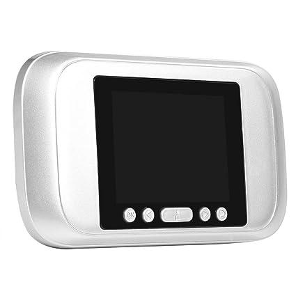 Fdit Visor de Puerta de Mirilla LCD DE 3.2 Pulgadas 32GB Cámara Grabador de Puerta de