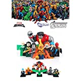 ABG toys Minifigures MARVEL DC Comics X-Men Avengers Super Heroes Colossus, Vulture, Ghost Rider, Captain Boomerang, Hogoblin, Katana, Jason Todd, Henri Ducard Minifigure Series Building Blocks Sets Toys