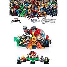 ABG toys Minifigures MARVEL DC Comics X-Men Avengers Super Heroes Colossus, Vulture, Ghost Rider, Captain Boomerang, Hogoblin, Katana, Jason Todd, Henri Ducard Minifigure Series Building Blocks Sets Toys