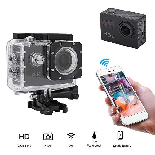 Serounder 4K 30fps 20MP WiFi Full HD Action Camera, 2