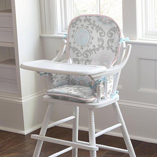pink gray rosa chair pad