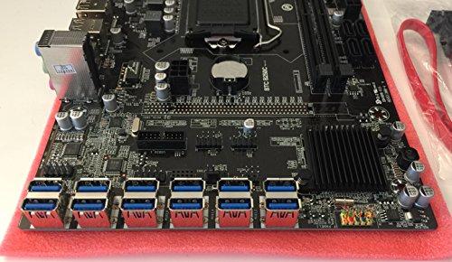 BTC B250C LGA1150 LGA1151 Motherboard 8GPU to 12GPU Ethereum Zcash Mining Riser Board