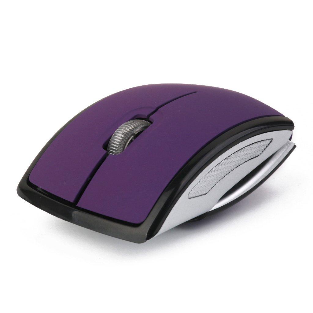 Laptop 2.4GHz Wireless Foldable Folding Arch Optical Mouse USB Mice Purple Generic STK0114013598