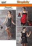 Simplicity Creative Patterns 1247 Misses' Flapper Costume, Size: R5 14-16-18-20-22