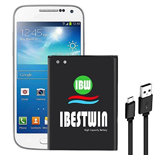 Galaxy S4 Mini Battery, IBESTWIN 3.8V 1900mAh Li-ion Battery Replacement for Samsung Galaxy S4 Mini, Galaxy SI V Mini I9190, I9195, I9197, I9192, B500AE/EB-B500BE [3 Years Warranty]